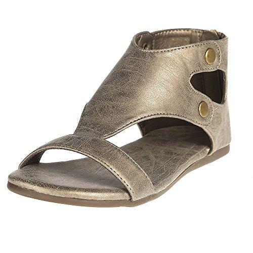 Corkys Footwear Boys Corky s Brushed Sandal 1 (Brushed Gold Footwear)