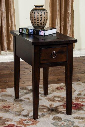 Sunny Designs Santa Fe End Table in Dark Chocolate