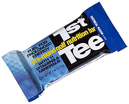 SCNS Sports Foods 1st Tee Oatmeal Raisin Pre-Round Golf Nutrition Bar, 2.46-Ounce Bars (Pack of 12)