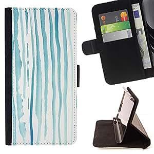 Momo Phone Case / Flip Funda de Cuero Case Cover - Líneas azules Kids Drawing - Samsung Galaxy S6