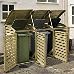Triple wheelie bin storage