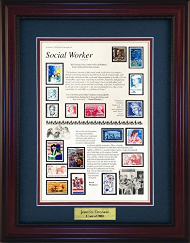 Social Worker - Unique Framed Collectible (A Great Gift Idea) with Personalized Engraved Plate
