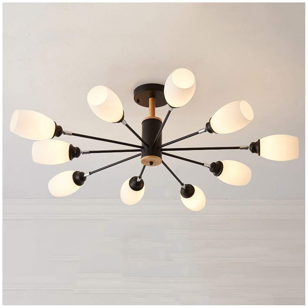 ペンダントライト 現代のペンダント照明ランプシェード調節可能なシーリングライトぶら下げランプダイニングルーム用リビングルーム寝室のシャンデリアぶら下げライト (色 : 10 heads) B07P1SSY6F 10 heads