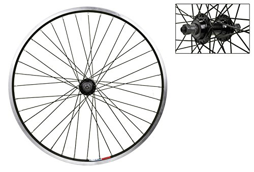 Wheel Master Rear Bicycle Wheel 24 x 1.75 36H, Alloy, Quick Release, Black (24 Inch Rear Wheels)