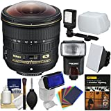 Nikon 8-15mm f/3.5-4.5E ED AF-S Fisheye-Nikkor Lens Flash + Video Light + Soft Box + DVD + Kit