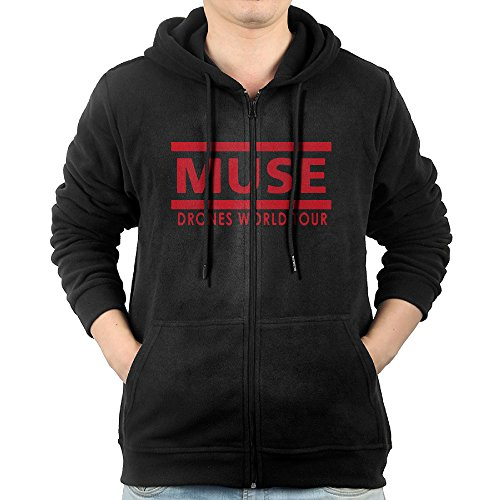 English Rock Band Muse Drones World Tour Zipper Sweatshirts For Men S Black