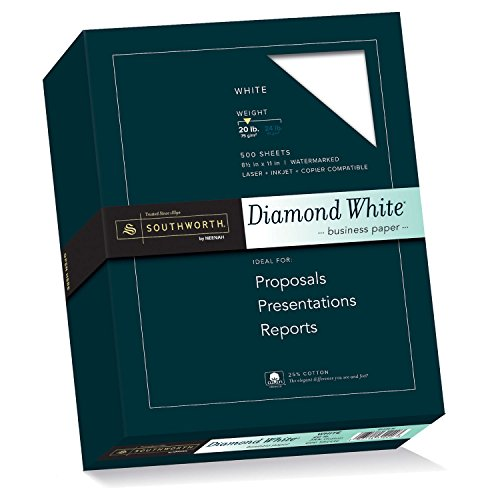 Diamond White Paper 20 Lb 8 1 2x11 500 Bx White Sold