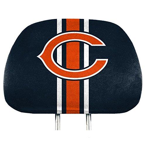 NFL Chicago Bears Full-Print Head Rest Covers, 2-Pack