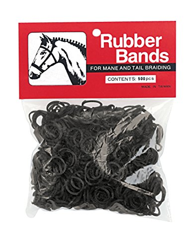 Rubber Bands Braiding - Weaver Leather Rubber Bands, Black