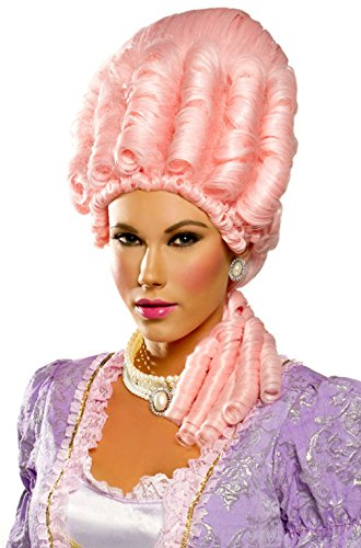 Mememall Fashion Miss Versailles Marie Antoinette Halloween Costume Wig (Icy Pink) (Jackie Moon Halloween Costume)