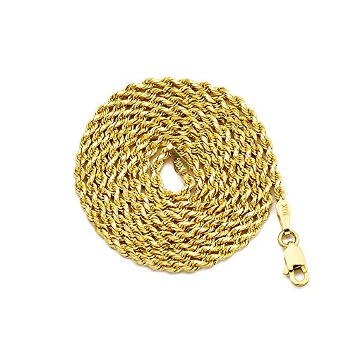 LOVEBLING 10K Yellow Gold 2mm 18