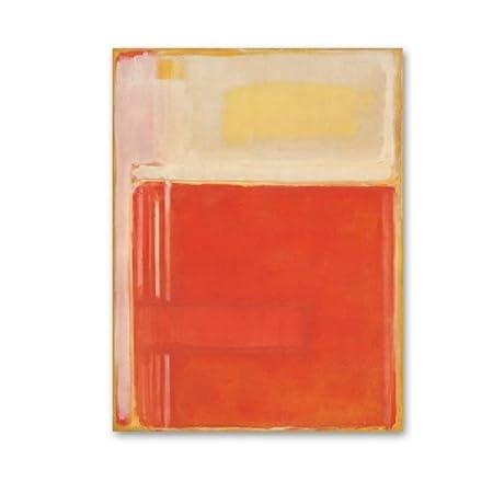 Vintage abstracto rojo amarillo colorido maestro impresiones ...