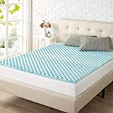 Queen Size Egg Crate Mattress Topper Zinus 1.5 Inch Swirl Gel Memory Foam Air Flow Topper, Queen