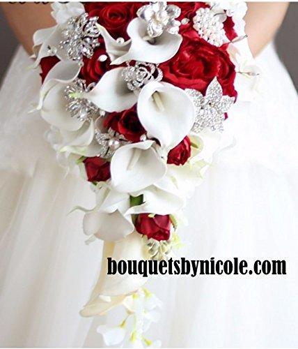 Amazon made to order brooch bouquet wedding bridal flowers silk made to order brooch bouquet wedding bridal flowers silk flowers real touch calla lilies mightylinksfo