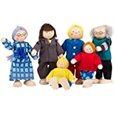 Goki TOYS pure SO218 - Biegepuppen City-Familie