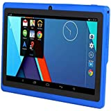 7 Tablet PC, Google Android 4.4 Quad Core, 1GB+8GB Dual Camera WIFI Bluetooth, 182mm (L) x122mm (W) x 12mm (H) (Blue)