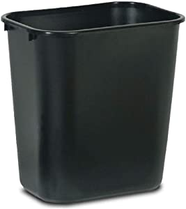Plastic Garbage Home Office Recycle Bin 7 Gal Black - Outdoor Trash can - Kitchen Trash can - Trash can for Bathroom - Kitchen Trash can - Outdoor Trash can for Patio - Camping Trash can.