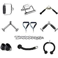 LHXDZC Kabelmachine bijlagen, Triceps touw, V-Bar, Draaibare Bar, Home Gym Fitness, Pull Down Touw, Enkelriem…
