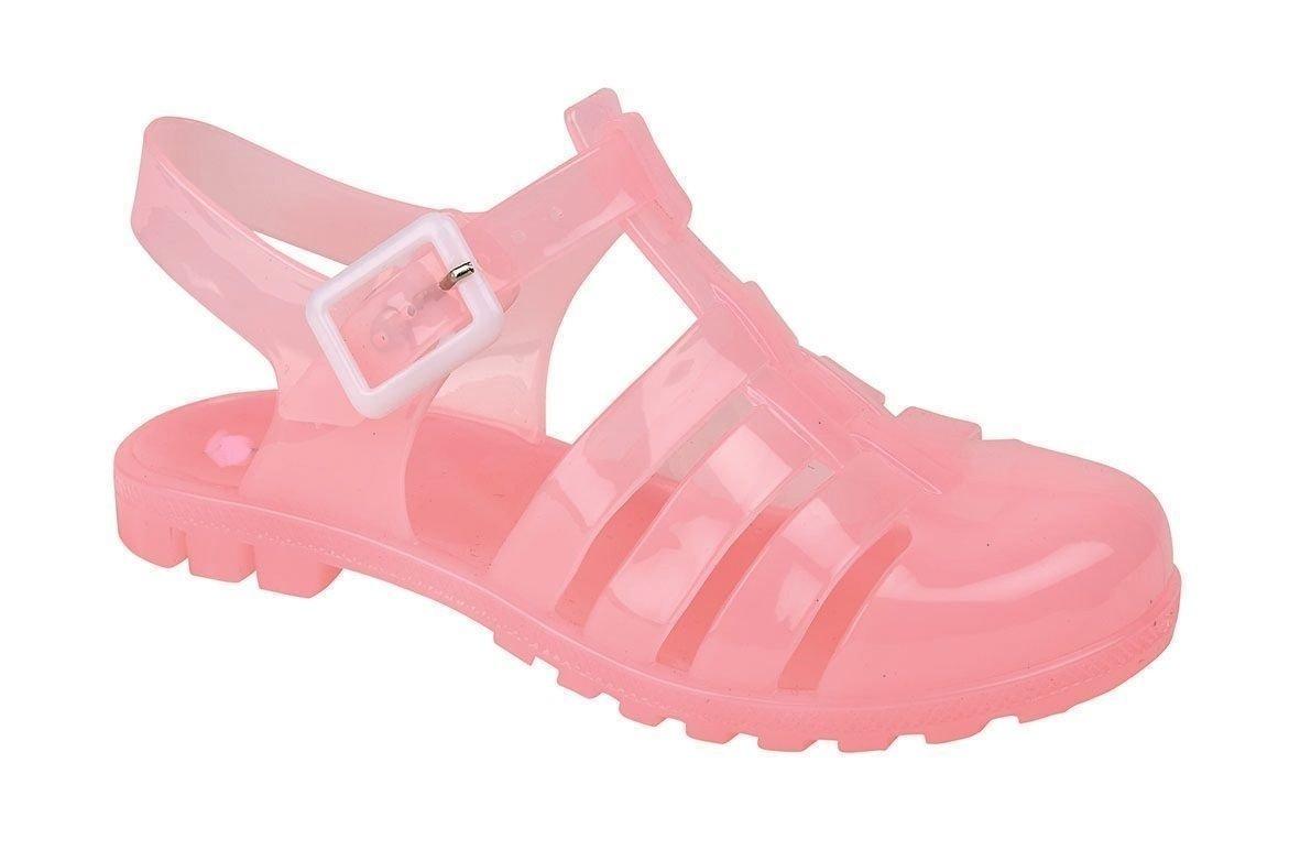 Girls Junior Plain Summer Beach Jelly Sandals Shoes: Amazon.co.uk: Shoes &  Bags