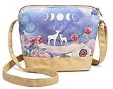 1eb64ce6b Crest Design Cute Canvas Crossbody Bag Shoulder Bag Purse for Girl and  teenage (Khaki Moose)