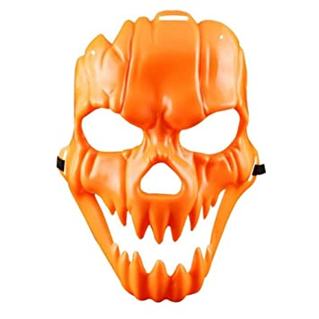 WHFDRHWSJMJ Mascara Halloween Terror de LED Cosplay Mascarada de Halloween Cosplay Máscara de Horror Máscara de