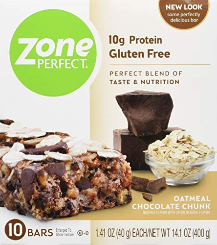 Zone Perfect Zoneperfect Protein bar Oatmeal Chocolate Chunk, Oatmeal Chocolate Chunk, 20 Count