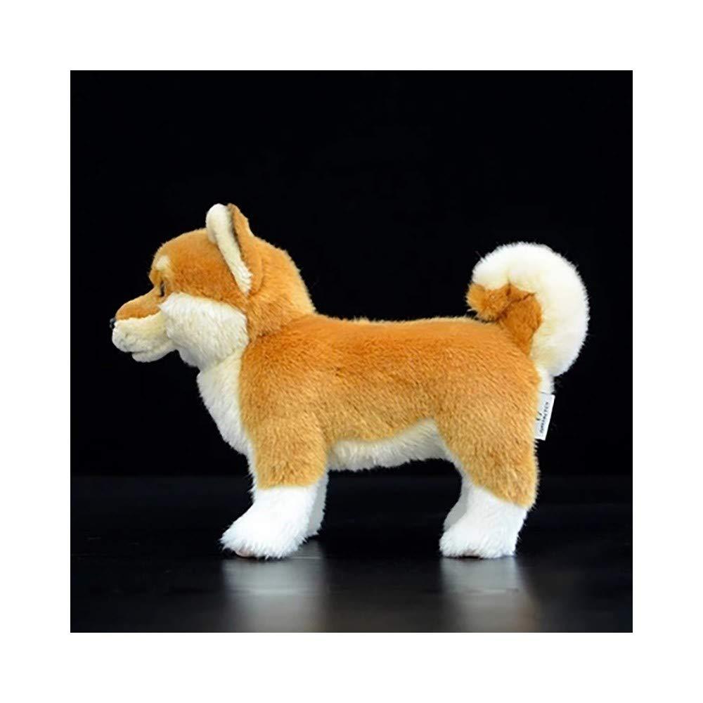 TKHCOLDM Lindas muñecas de Perro Simulación Japonesa Shiba Inu muñecas Perro de Peluche de pie Animales de simulación 28cm, Perro Amarillo 28 cm: Amazon.es: ...