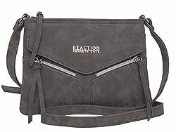 Kenneth Cole Reaction Kn1963 Columbus Mini Crossbody Messenger Purse Shoulder Bag Grey