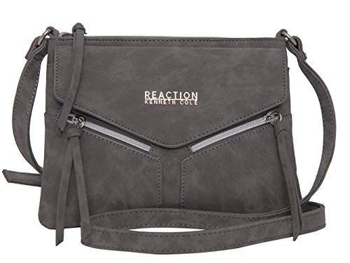Kenneth Cole REACTION KN1963 Columbus Mini Crossbody Messenger Purse Shoulder Bag (Grey)