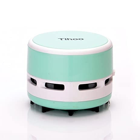 Tihoo Mini Table Dust Vacuum Cleaner Table Cleaning Assistance Keyboard  Cleaning Dust Multifunction Mini Sweeper Operated