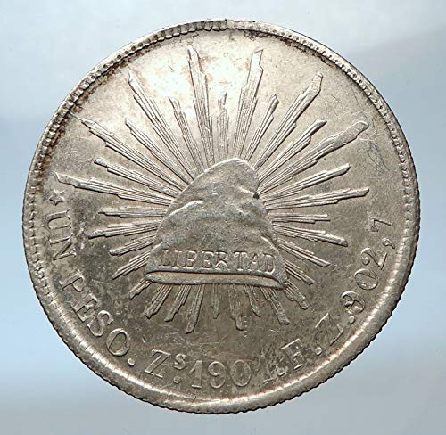 (1901 MX 1901 MEXICO Large w Aquila Liberty Cap Mexican An coin Good Uncertified)