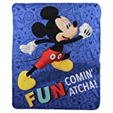 Mickey Mouse Fun Kids Character Lightweight Fleece Throw Blanket
