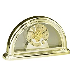 Upper Gifts Gold See Through Acrylic Table Clock