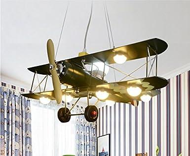 elegant gaohx light american vintage avion lustre enfants chambre lampe garon led salle lampes. Black Bedroom Furniture Sets. Home Design Ideas