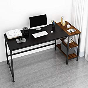 JOISCOPE Desk,Computer Desk,Office Desk,Study Table with Shelves,Writing Desk,Industrial Table Made of Wood and Metal…