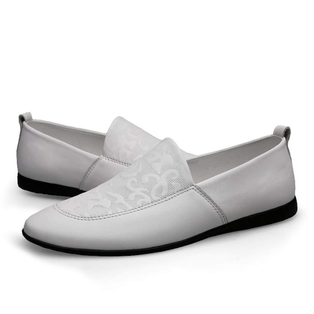 Easy Go Shopping Herren Lederschuhe geprägt Penny Loafers leichte leichte leichte atmungsaktive Hochzeit Flache Slip Rutschfeste Lederschuhe,Grille Schuhe  681423