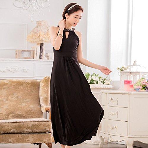MEI&S Las mujeress Vintage Prom elegante vestido largo Maxi vestido de fiesta por la noche,