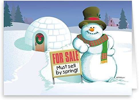 Amazon com: Real Estate Holiday Card - Funny Realty