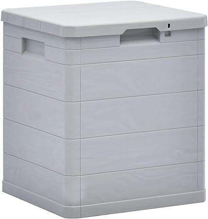 ghuanton Caja de Almacenamiento de jardín 90 L Gris claroMobiliario Mobiliario de Exterior Cajas de almacenaje para Exteriores: Amazon.es: Hogar