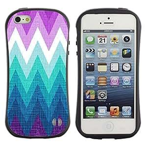 Suave TPU GEL Carcasa Funda Silicona Blando Estuche Caso de protección (para) Apple Iphone 5 / 5S / CECELL Phone case / / Mountain Cold Purple Teal /