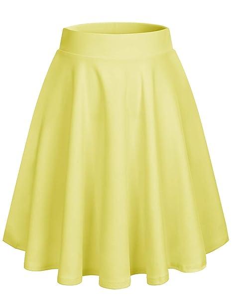 Dresstells Falda Mujer Mini Corto Elástica Plisada Básica Multifuncional   Amazon.es  Ropa y accesorios 9cde8704e2f2