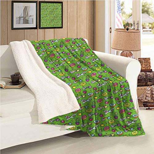 """Maureen Austin Cactus Personalized Blanket Unicorn Donut Strawberry Easy to Care 59""""X78""""Inch"""