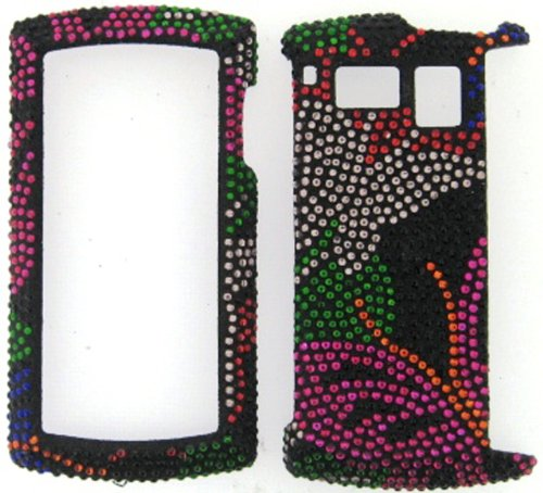 FULL DIAMOND CRYSTAL STONES COVER CASE FOR SANYO INCOGNITO 6760 BUTTERFLIES ON - Hard Sanyo Faceplates