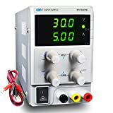 Bench Power Supply Variable 30V 5A, Adjustable Lab DC Power Supply Regulated with Alligator Cable (3005D-150W)