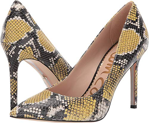 Sam Edelman Women's Hazel Tuscan Yellow Multi Exotic Snake Print Leather 9 W US