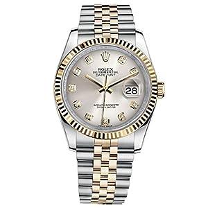 Best Epic Trends 516St9VueiL._SS300_ Rolex Datejust 36 Steel Yellow Gold Watch Steel Silver Diamond Dial 116233