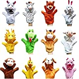 Remeehi 12pcs Farm Hand Puppet Animals Plush Animal Toys Story Telling Props Educational Toys for Kids