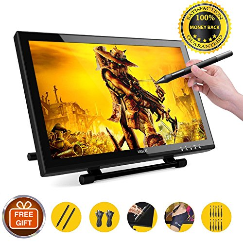 Ugee 1910B Pen display Drawing monitor Graphics Tablets with 2048 Pressure Sensitivity 19 Inch for Mac and PC by Ugee