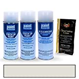PAINTSCRATCH Mineral White Metallic Tricoat A96 for 2016 BMW 2 Series - Touch Up Paint Spray Can Kit - Original Factory OEM Automotive Paint - Color Match Guaranteed