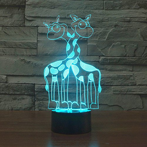 Comics+3D+Night+Lamp+ Products : Giraffe Acrylic Desk Table Lamp 3D Led Night Light Touch Switch Usb 7 Colors